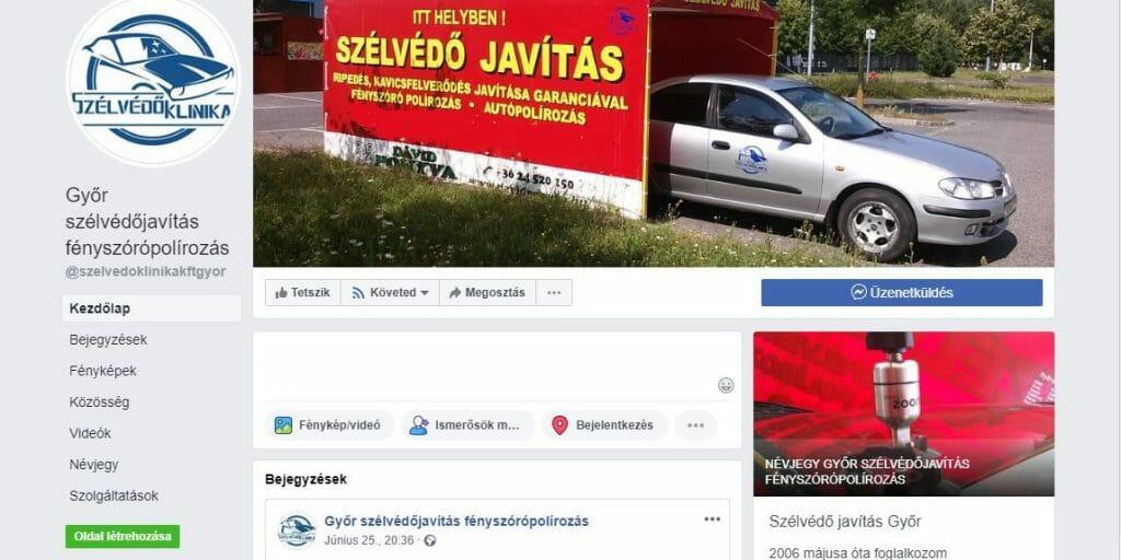 szélvédő javítás Győr Möbelix